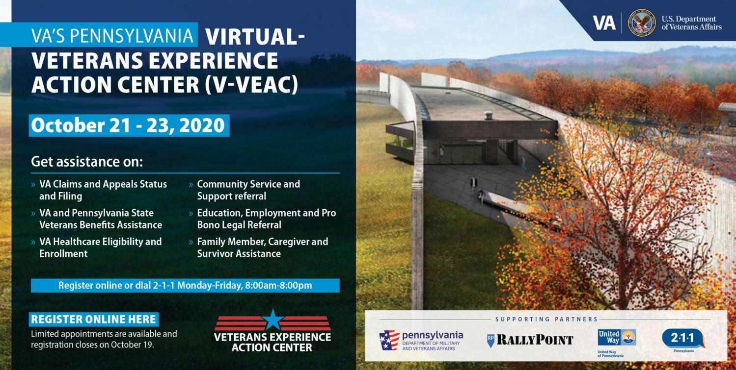 Virtual Veterans Experience Action Center Graphic